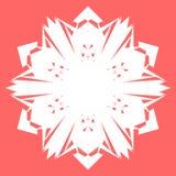 Vit Snowflake Snöflinga för affischer, kort, inbjudandesign Arkivbilder