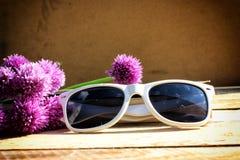 vit solglasögon Royaltyfri Bild