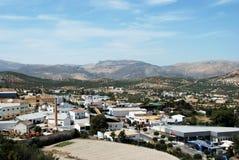 Vit stad, Priego de Cordoba Arkivbild