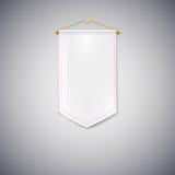 Vit standert på vit bakgrund Royaltyfria Bilder