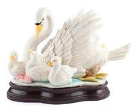 Vit staty för stum svan Royaltyfri Bild