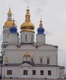 Vit-sten kremlin i Tobolsk, Ryssland arkivfoto