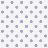 Vit stor polka Dots Pattern Repeat Background för lilor och Royaltyfria Foton
