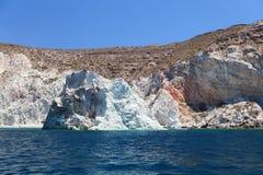 Vit strand. Akrotiri. Santorini Arkivbilder