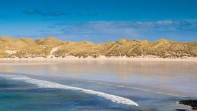 Vit strand i norden av Skottland Royaltyfri Fotografi