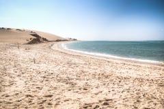 Vit strand på den Bazaruto ön Royaltyfri Foto