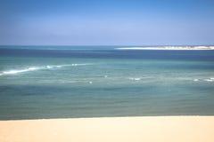 Vit strand på den Bazaruto ön Arkivbild