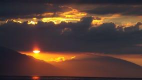 Vit strandsolnedgång Royaltyfri Fotografi