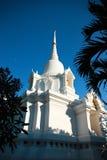 Vit stupa på Thailand Arkivbilder