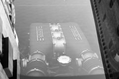 Vit supercarFerrari 458 spindel Royaltyfria Foton