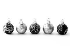 vit svart jul Arkivfoton