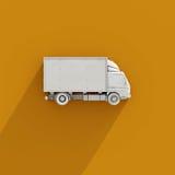 vit symbol för lastbil för leverans 3d Arkivbild