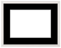 Vit tappningram som isoleras på vit Enkel design för vit ram Royaltyfri Bild