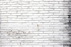 Vit tegelstenvägg Fotografering för Bildbyråer
