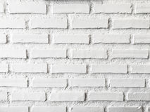 Vit tegelstenvägg för bakgrund Royaltyfri Foto