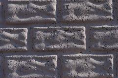 Vit tegelstenvägg för bruk i design Royaltyfria Bilder