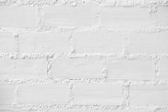 Vit tegelstenväggtextur Royaltyfri Fotografi
