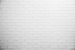 Vit tegelstenvägg Royaltyfri Fotografi