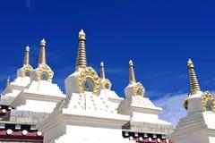 Vit tempel Arkivbilder