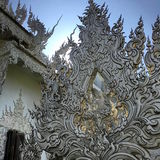 Vit tempel av Chiang Rai Arkivbilder