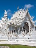 Vit tempel, Chiang Rai Arkivfoton