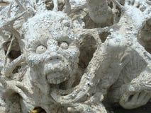 Vit tempel, Chiang Rai, Thailand Royaltyfri Foto