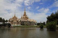 Vit tempel Korat Thailand Arkivbild