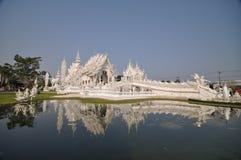 Vit tempel Thailand Royaltyfri Foto