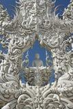Vit tempel, Wat Rong Khun Royaltyfri Foto