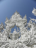 """vit Temple†för """"The  i Chiang Ria, Thailand Arkivbilder"""