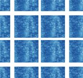 Vit textil för blå fyrkantig för modellbakgrundstextur som för tapet för design för konst för abstrakt begrepp för kub bakgrund f royaltyfri bild
