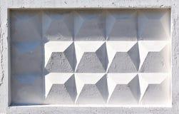 Vit textur av det konkreta staketet Arkivbild