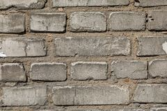 Vit textur eller bakgrund för tegelstenvägg Royaltyfri Bild