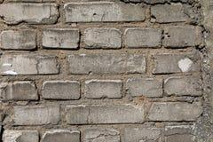 Vit textur eller bakgrund för tegelstenvägg Arkivbilder