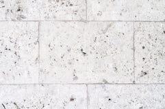 Vit textur för stenvägg Royaltyfria Bilder