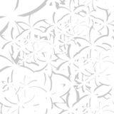 Vit textur för vektorabstrakt begreppblomma Royaltyfri Bild