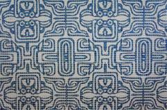 Vit texturbakgrund för mosaiska tegelplattor för blått och Royaltyfria Bilder