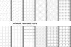 Vit texturerad geometrisk sömlös modell Arkivfoto