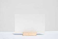 Vit texturerar det tomma kända kortet Fotografering för Bildbyråer