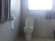 Vit toalettbunke royaltyfri foto