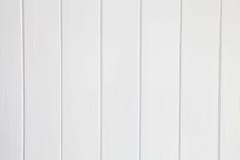 Vit träpanelbakgrund Fotografering för Bildbyråer