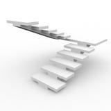 Vit trappuppgång. Royaltyfri Fotografi