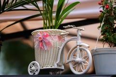 Vit trehjuling Arkivfoton