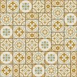 Vit turk för ursnygg sömlös modell som är marockansk, portugistegelplattor, Azulejo, prydnad royaltyfri illustrationer