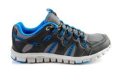 Vit unisex- sko för blått och Fotografering för Bildbyråer