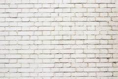 Vit utomhus- bakgrund för tegelstenvägg arkivfoton