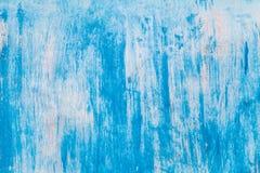 Vit väggtextur med blåa fläckar Abstrakt vit Wash Backgro Royaltyfri Fotografi