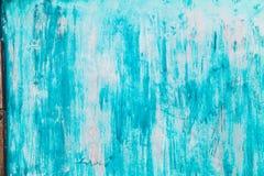 Vit väggtextur med blåa fläckar Abstrakt vit Wash Backgro Arkivbilder
