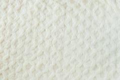Vit vadderad pälsbakgrund Royaltyfri Foto