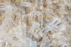 Vit vagga-kristall bakgrund Royaltyfria Bilder